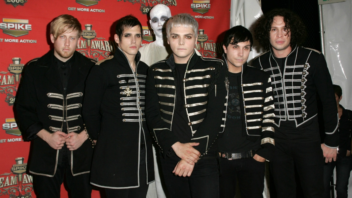 """My Chemical Romance in the press room at Spike TV's """"Scream Awards 2006""""."""
