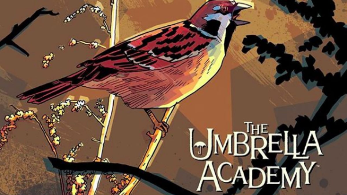 Cover art for The Umbrella Academy by Gerard Way and Gabriel Ba