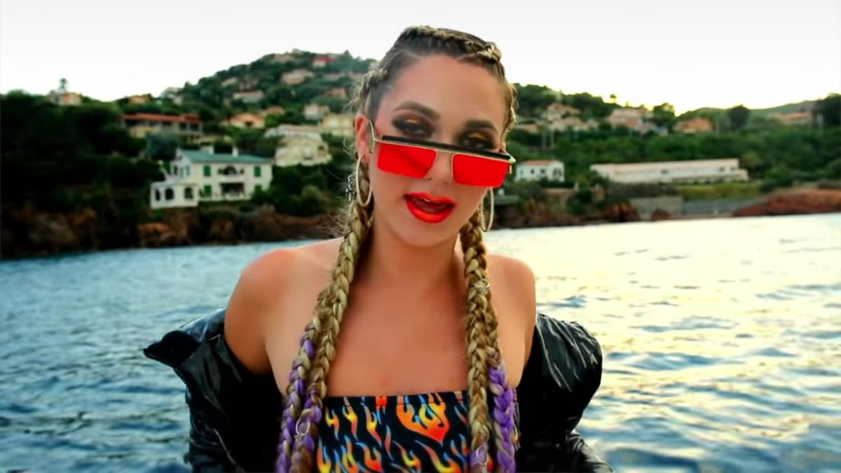 Ashley Brinton in the Good Mawnin music video
