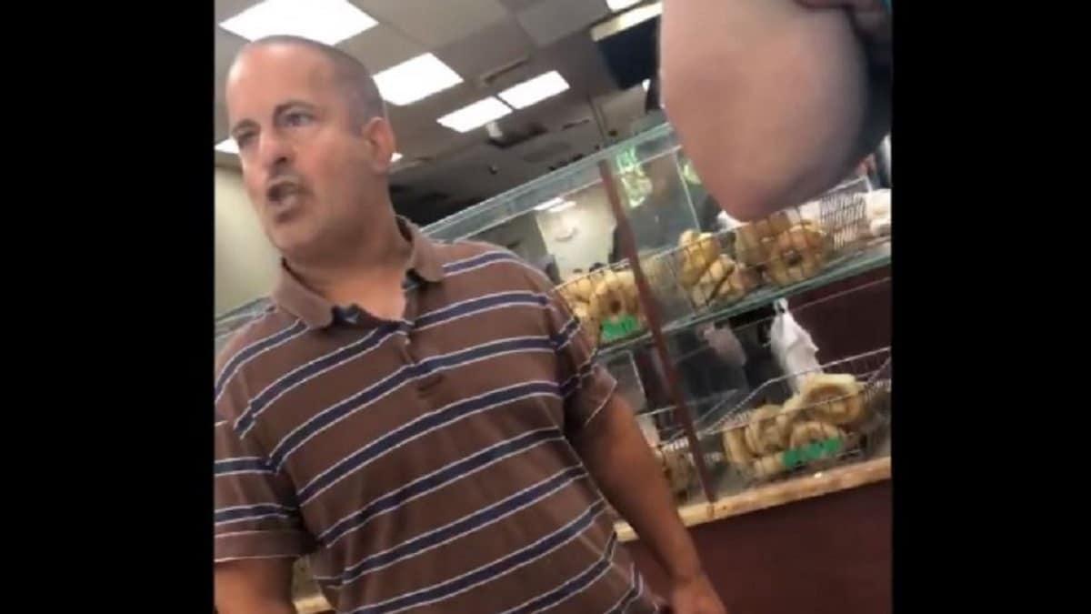 Chris Morgan at the bagel store
