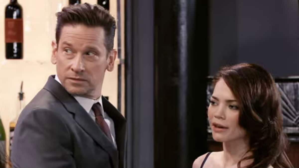 Roger Howarth and Rebecca Herbst as Franco and Liz on General Hospital.