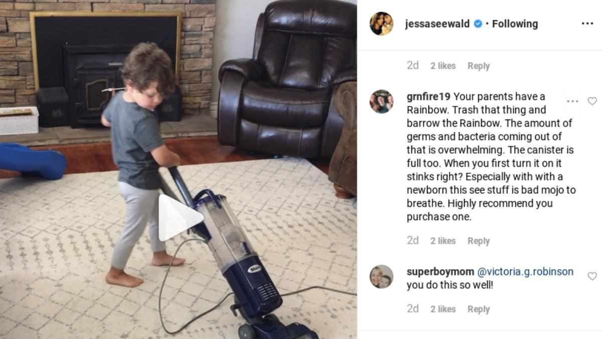 Rude comment from Jessa Duggar's Instagram post.