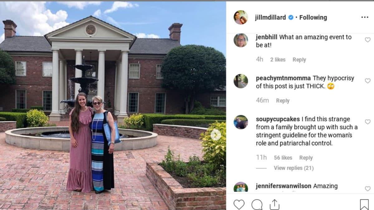 Jill Duggar's Instagram post
