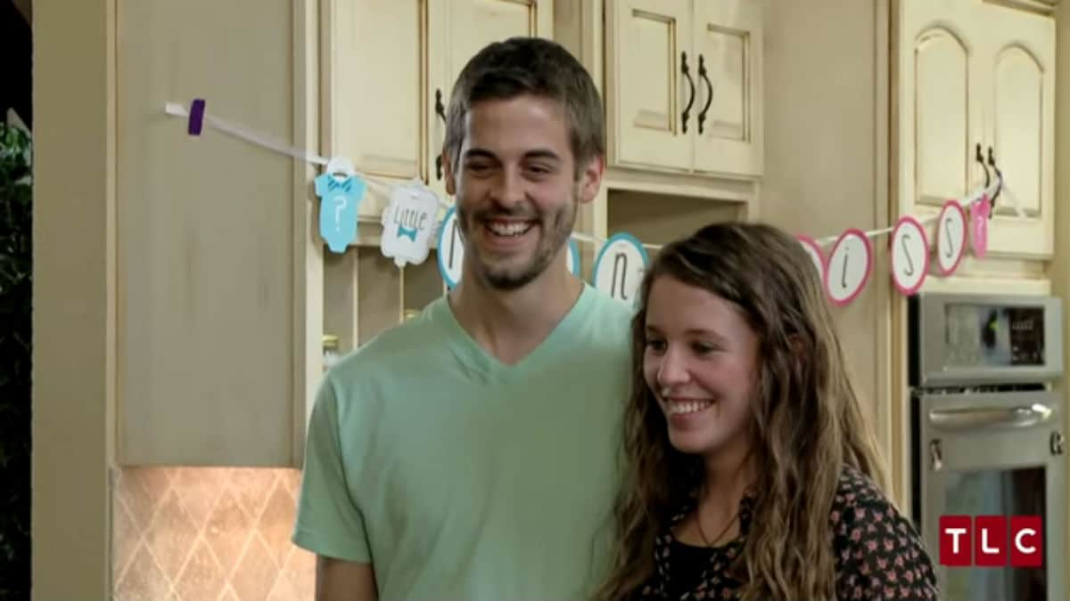 Jill Duggar and Derick Dillard at their gender reveal on Counting On.