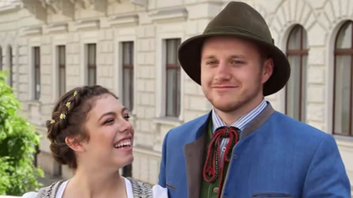 Josiah and Lauren Duggar on their honeymoon on Counting On.