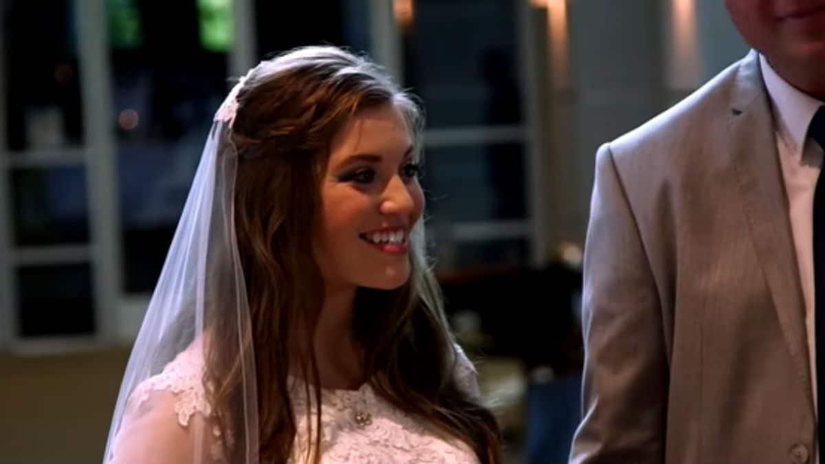 Joy-Anna Duggar on her wedding day.