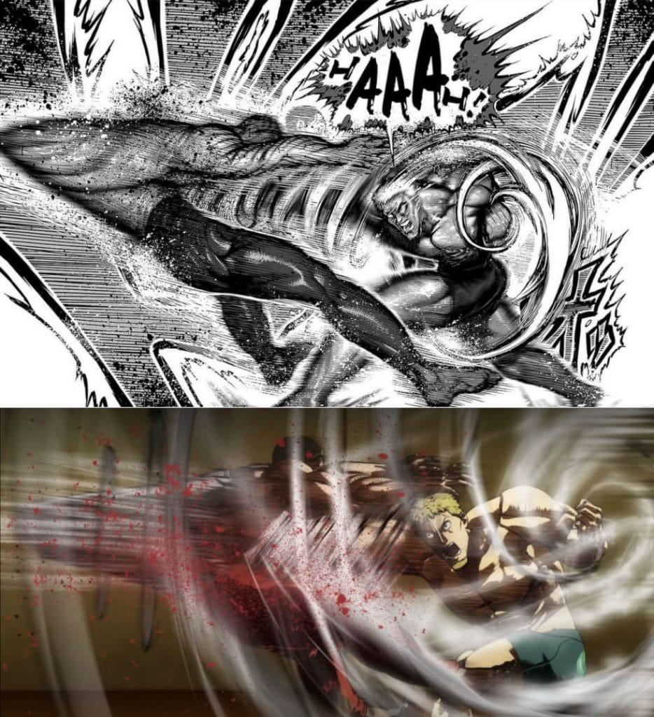 Kengan Ashura Manga Chapter 63 Comparison