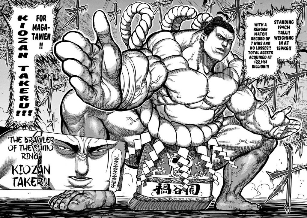 Kengan Ashura Manga Chapter 74 Sumo Wrestler Kiozan Takeru