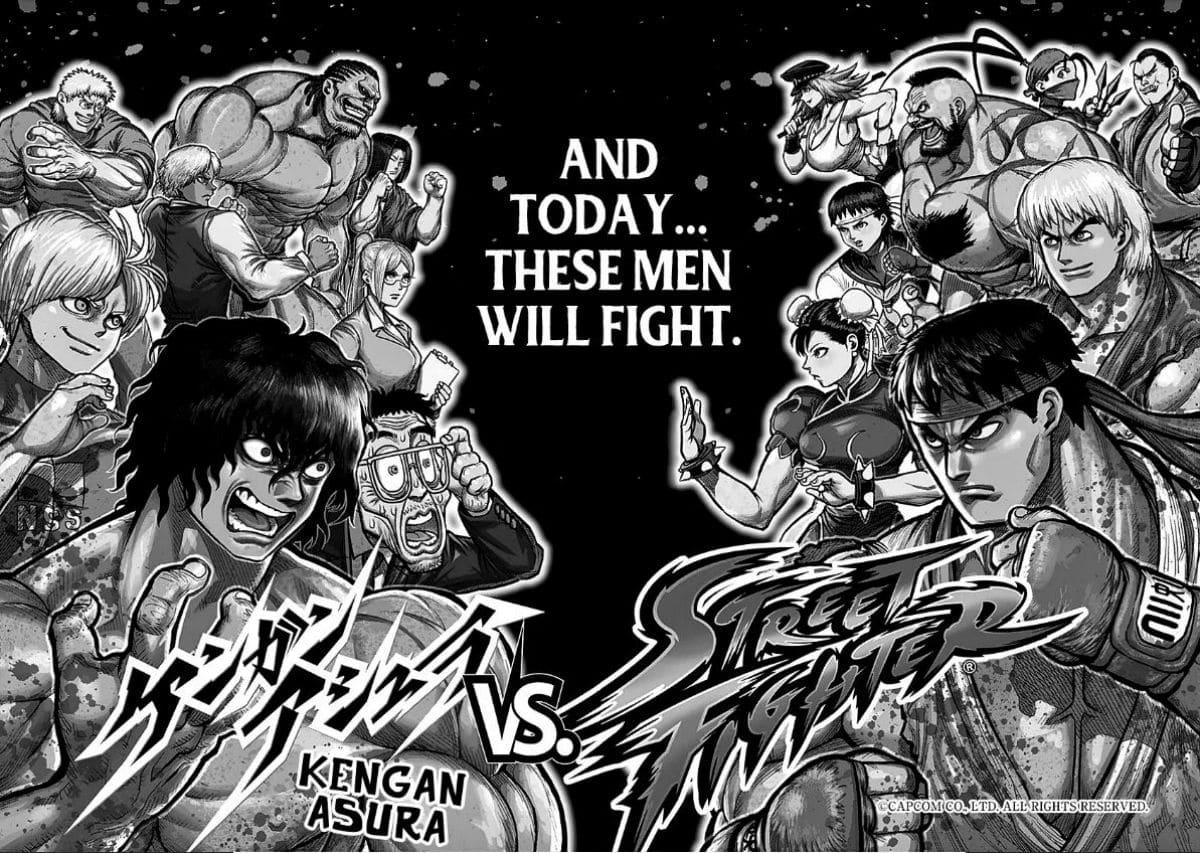 Kengan Ashura Street Fighter Manga Crossover Showdown