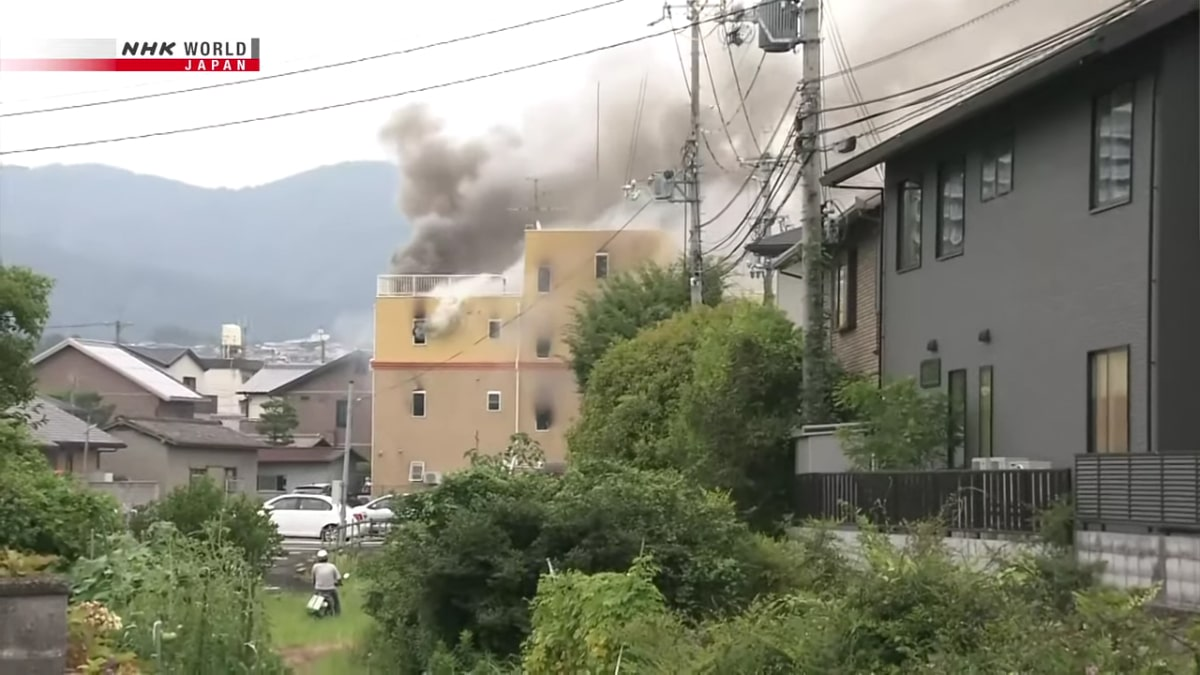 Kyoto Animation studio building set ablaze