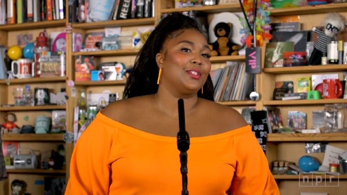 Lizzo performs at NPR Music's Tiny Desk Concert