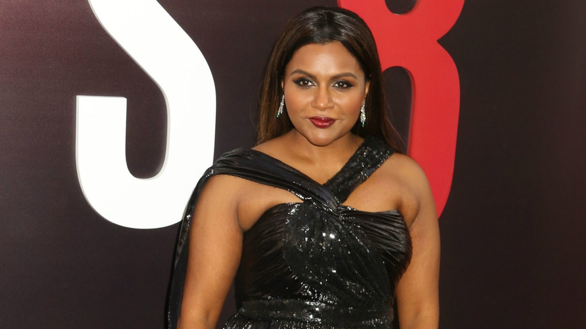 MINDY KALING attends the 'Ocean's 8' world premiere held at Alice Tully Hall at Lincoln Center.