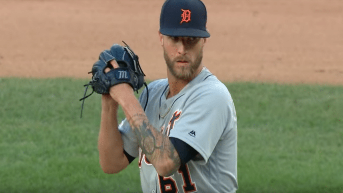 Shane Greene pitches for the Detroit Lions