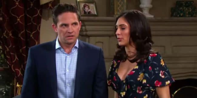 Brandon Barash and Camila Banus as Stefan and Gabi on Days of our Lives.