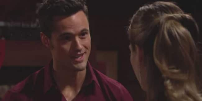 Matthew Atkinson and Annika Noelle as Thomas and Hope on The Bold and the Beautiful.
