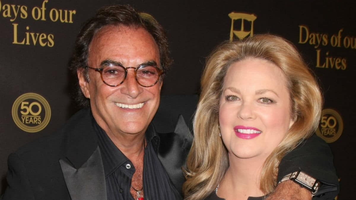 Thaao Penghlis and Leann Hunley as Tony and Anna at the Days 50th anniversary party.