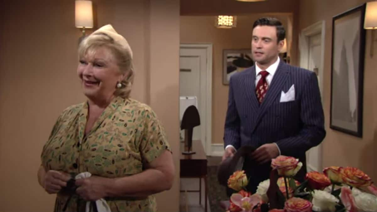 Beth Maitland and Daniel Goddard as Traci and Cane on The Young and the Restless.