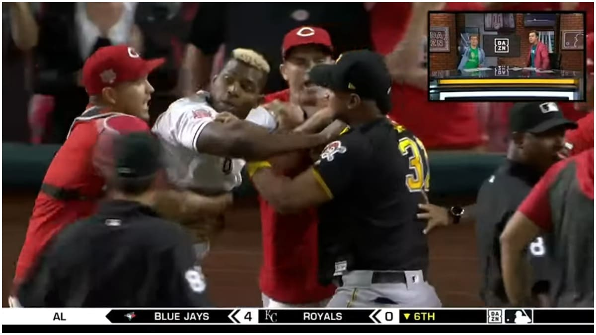 Cincinnati Reds brawl breaks out just moments before team trades Yasiel Puig