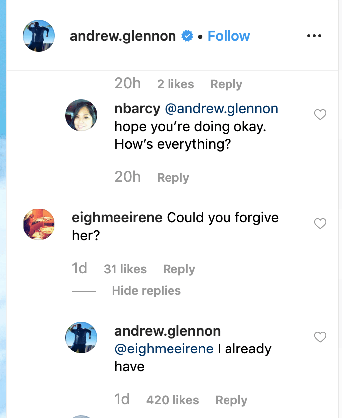 Andrew's social media response