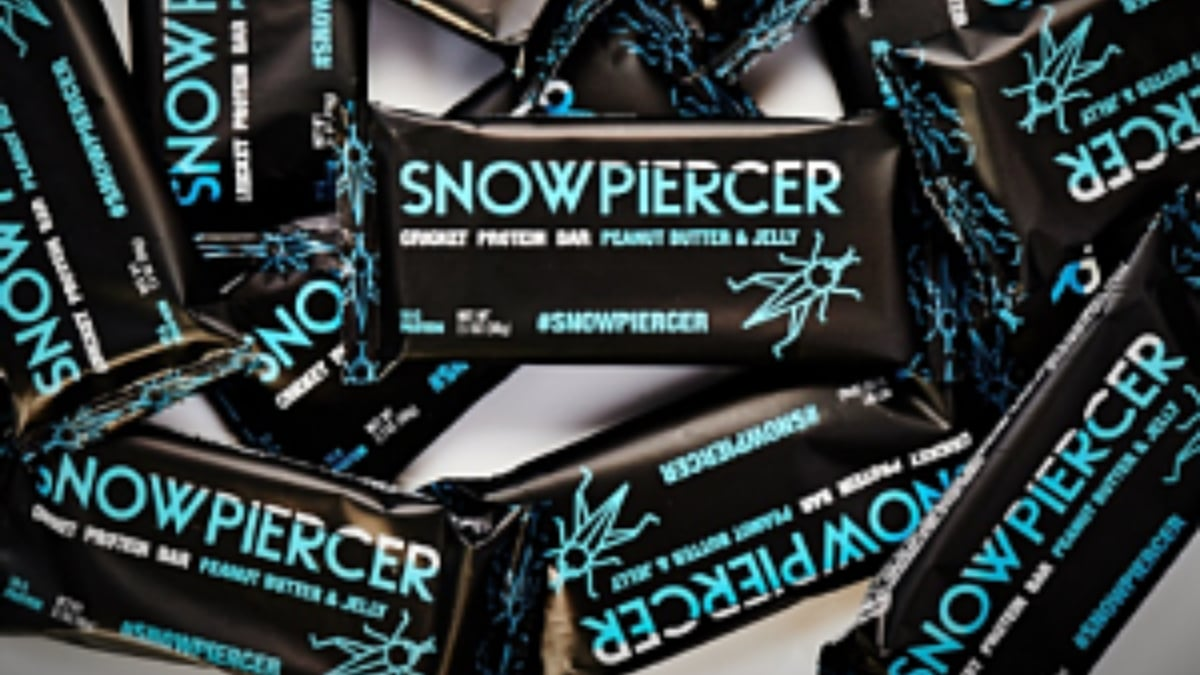 Cricket protein makes these the smart snack for those stuck on the Snowpiercer train. Pic credit: TBS/Aspire