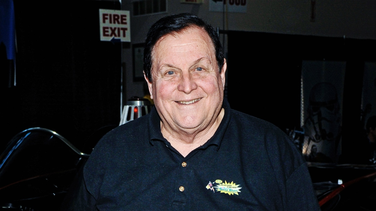 """Actor Burt Ward (best known for his role as Robin in the 1960's TV series """"Batman"""") at Hamilton Comic Con at the Canadian Warplane Heritage Museum."""