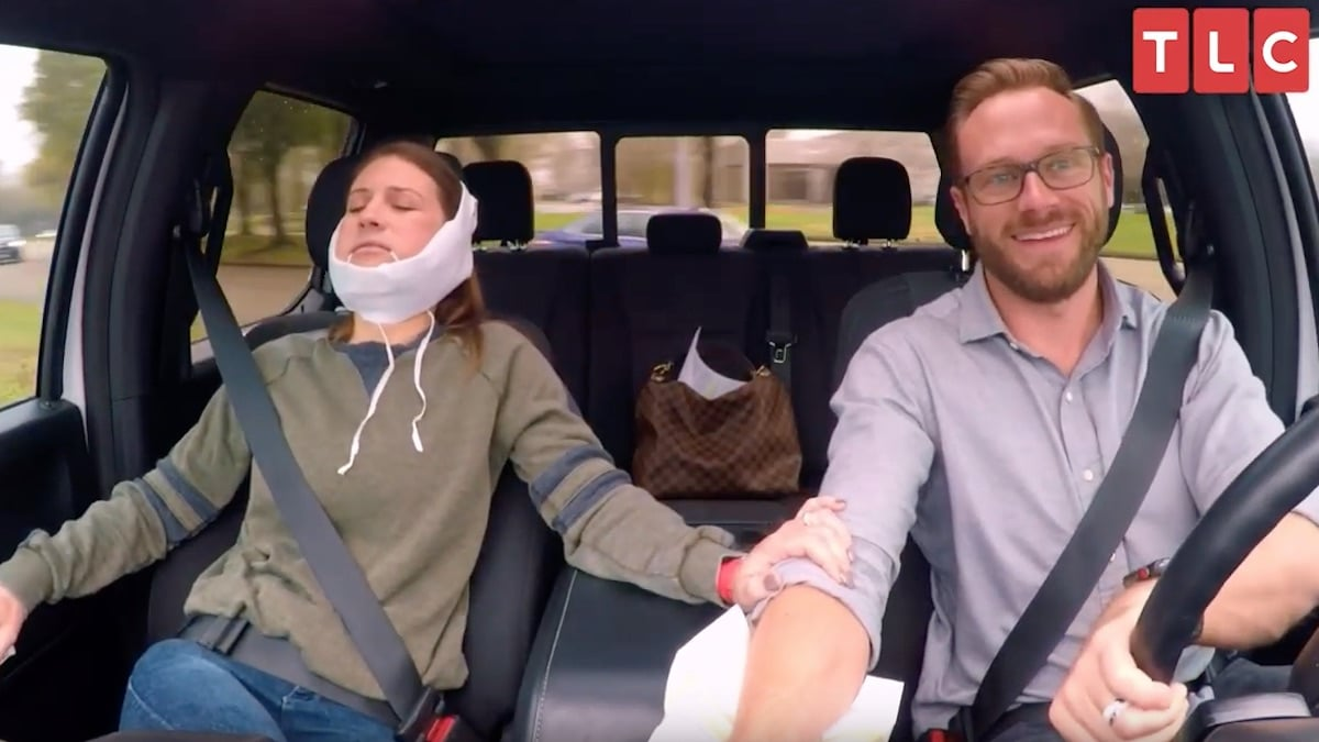 Adam driving Danielle home after her wisdom teeth removal