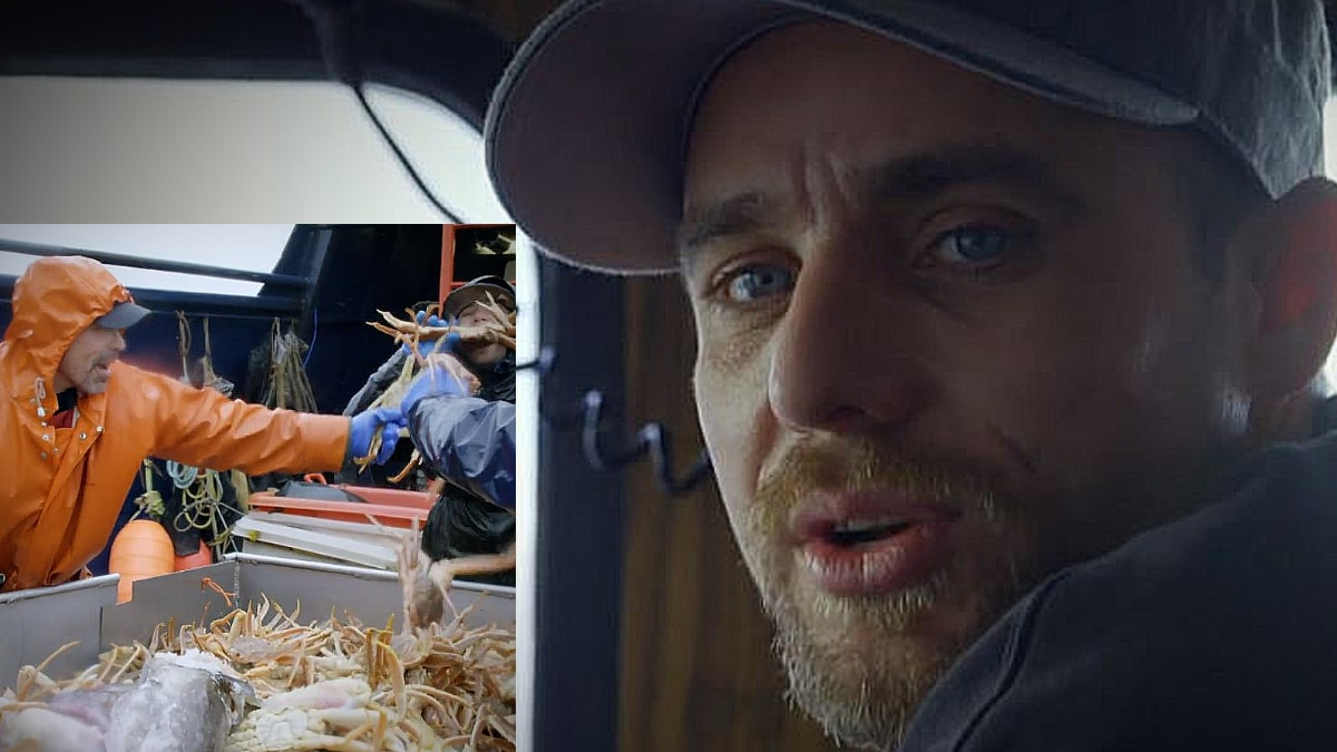 Anderson is trying to keep his giddy crewmen from imminent death on this clip for Deadliest Catch. Pic credit: Discovery