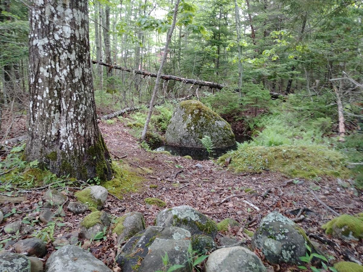 The footstone of Nolan's Cross