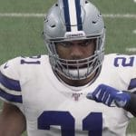 ezekiel elliott appears in madden 20 NFL video game
