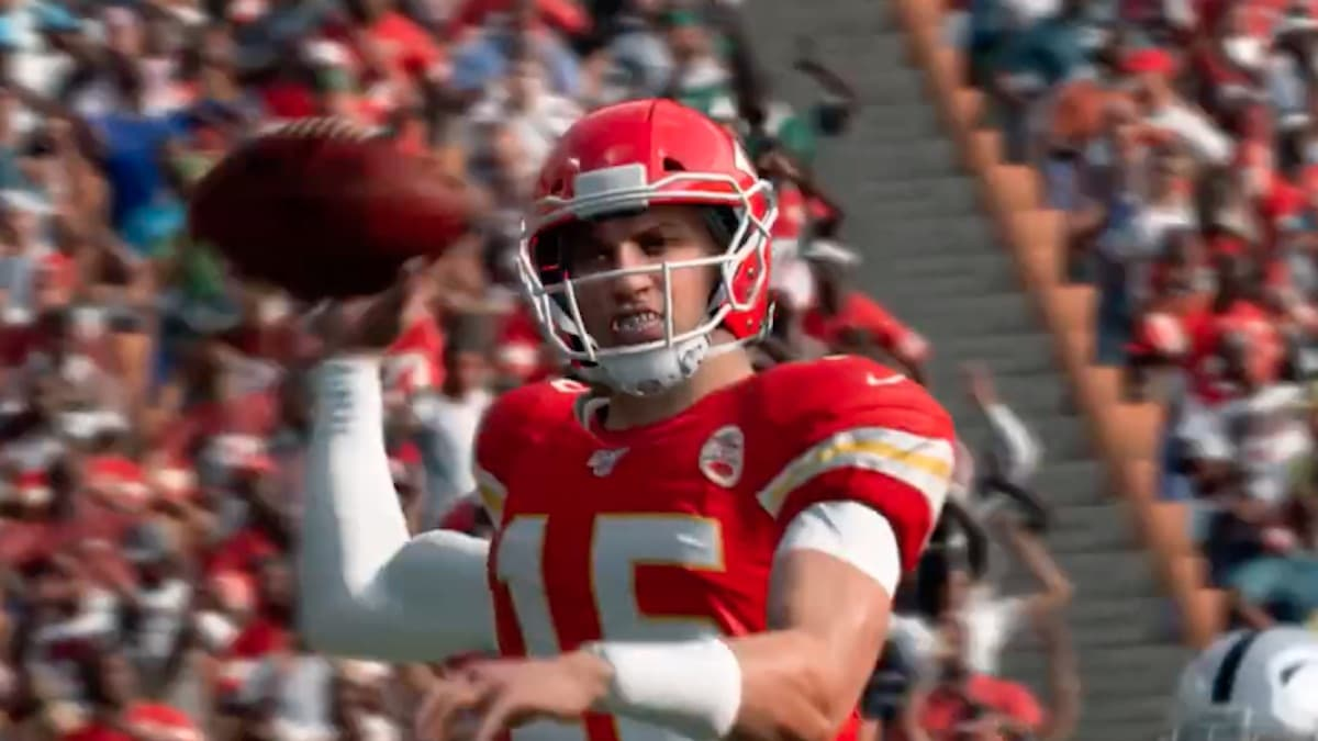patrick mahomes for ea sports madden 20 game