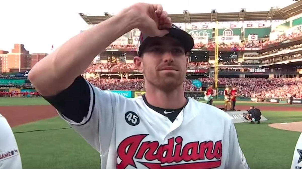 shane bieber of the cleveland indians at the 2019 mlb all-star game