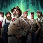 "Mountain Monsters cast members Jeff Headlee, Joseph ""Huckleberry"" Lott, John ""Trapper"" Tice, Jacob ""Buck"" Lowe, William ""Wild Bill"" Neff and Willy McQuillian"