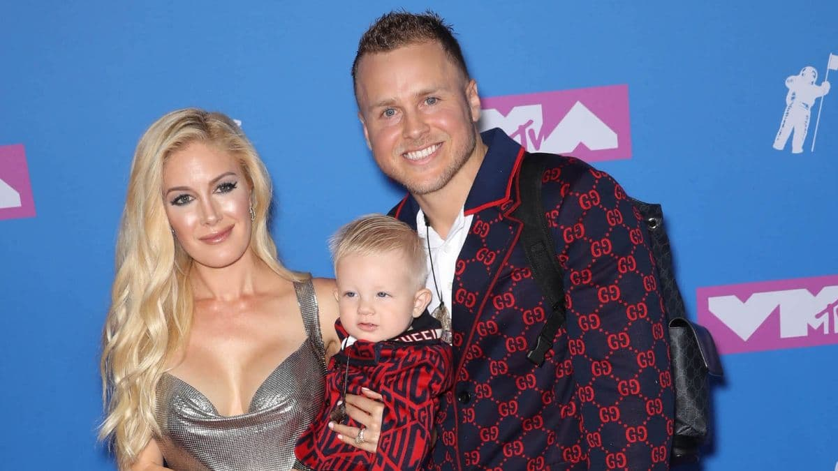 Heidi Montag and Spencer Pratt with their son