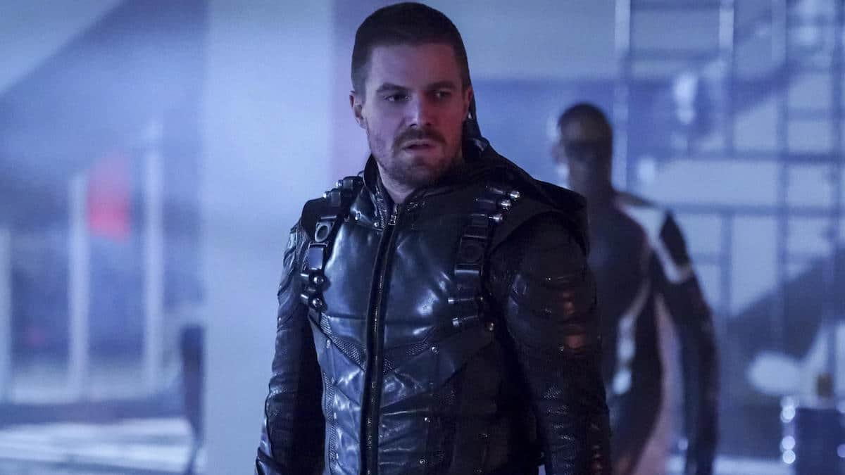Stephen Amell as Oliver Queen/Green Arrow on Arrow.