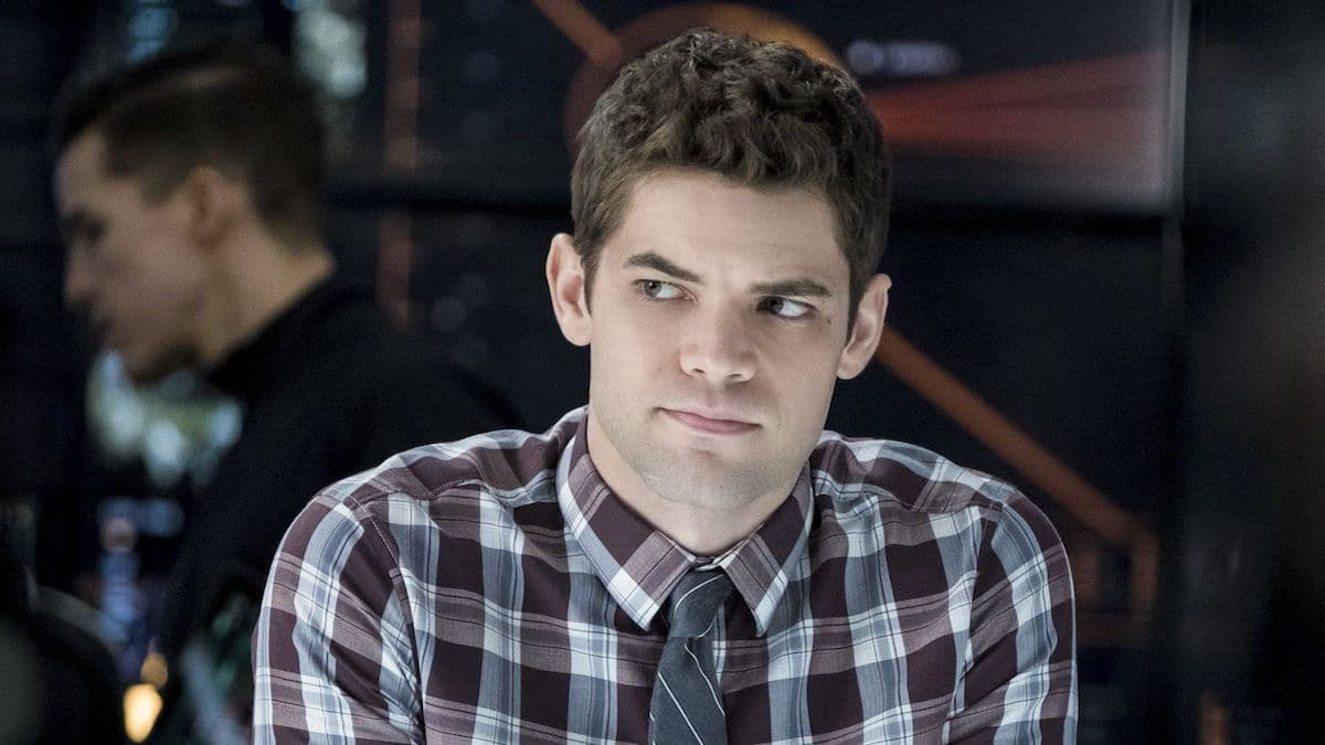 Jeremy Jordan as Winn Schott in Supergirl.