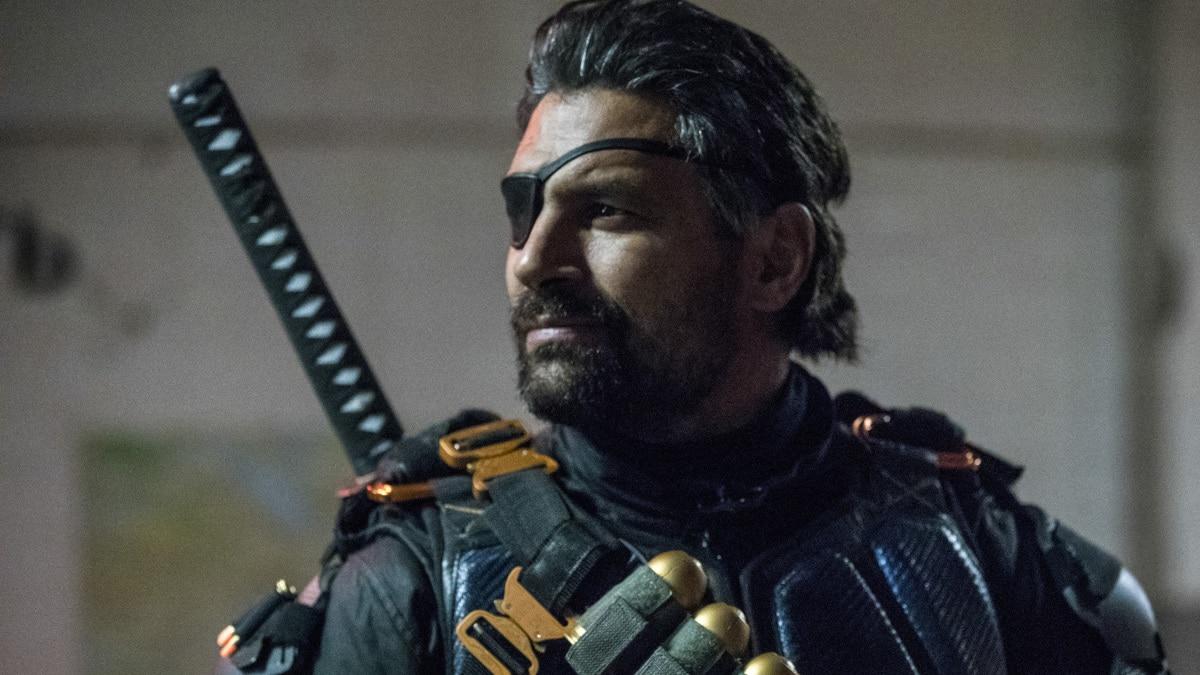 Manu Bennett as Slade Wilson/Deathstroke in Arrow.