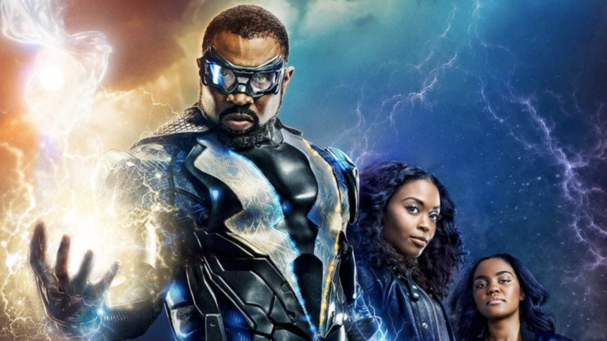 Cress Williams as Black Lightning, Nafessa Williams as Anissa Pierce, and China Anne McClain as Jennifer Pierce