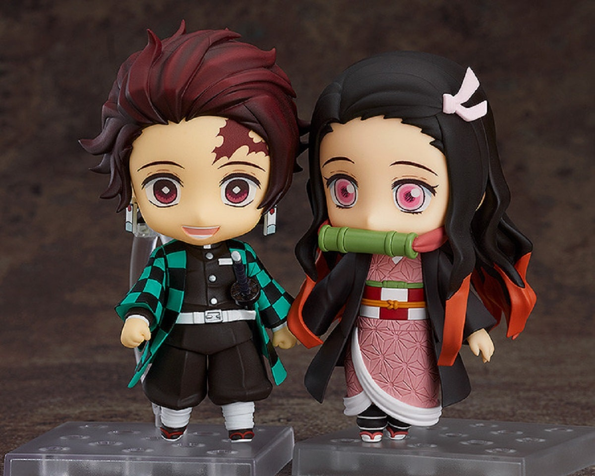 The Nezuko Nendoroid with the Tanjiro Nendoroid (sold separately). Pic credit: Good Smile Company.