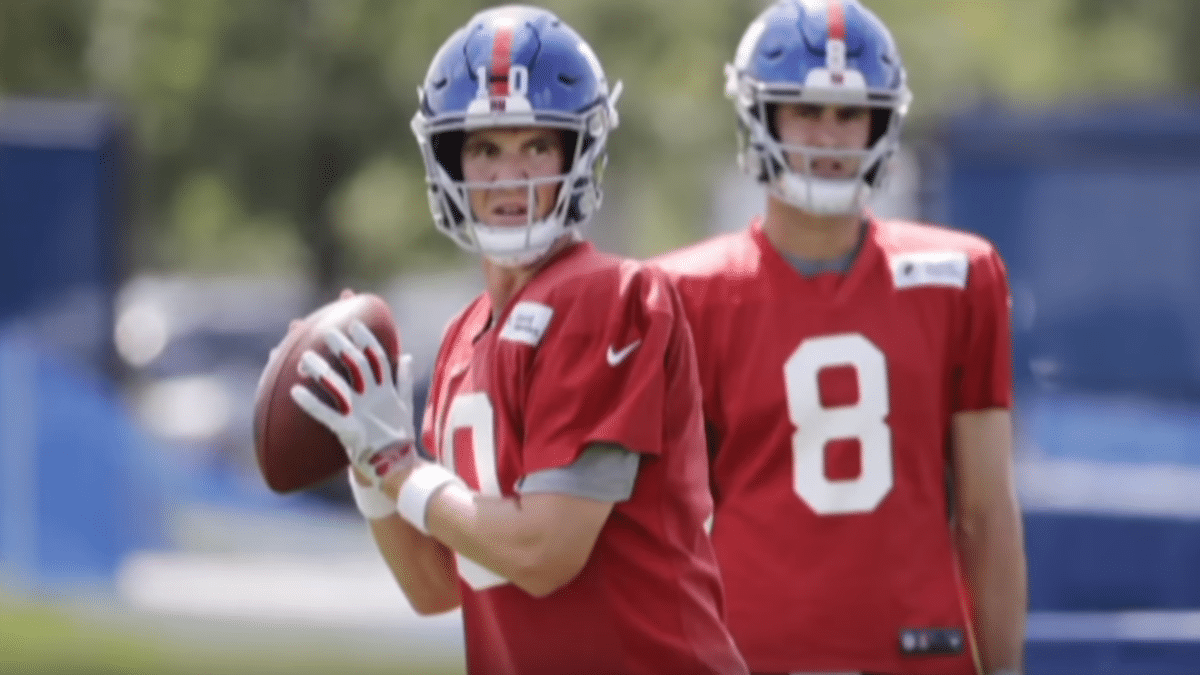 Who will start more games at quarterback for the New York Giants in 2019, Eli Manning or Daniel Jones?