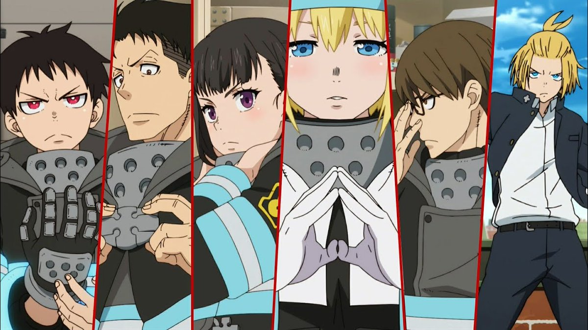 Characters from the Fire Force anime