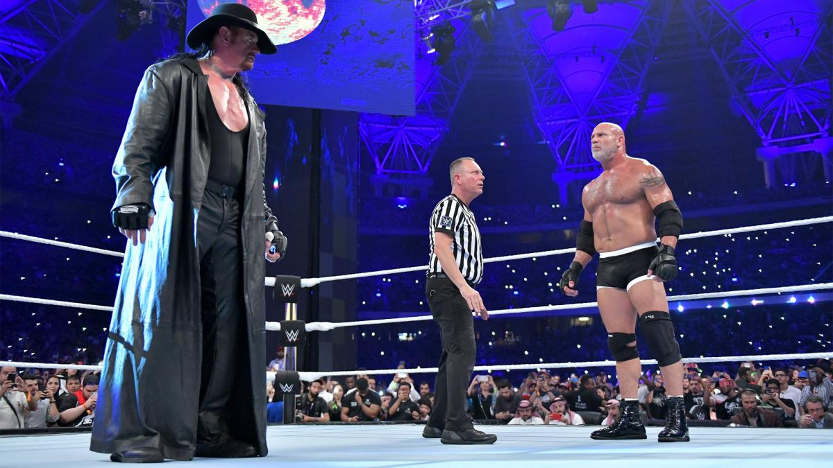 Bill Goldberg reveals why his WWE Super Showdown match with Undertaker sucked