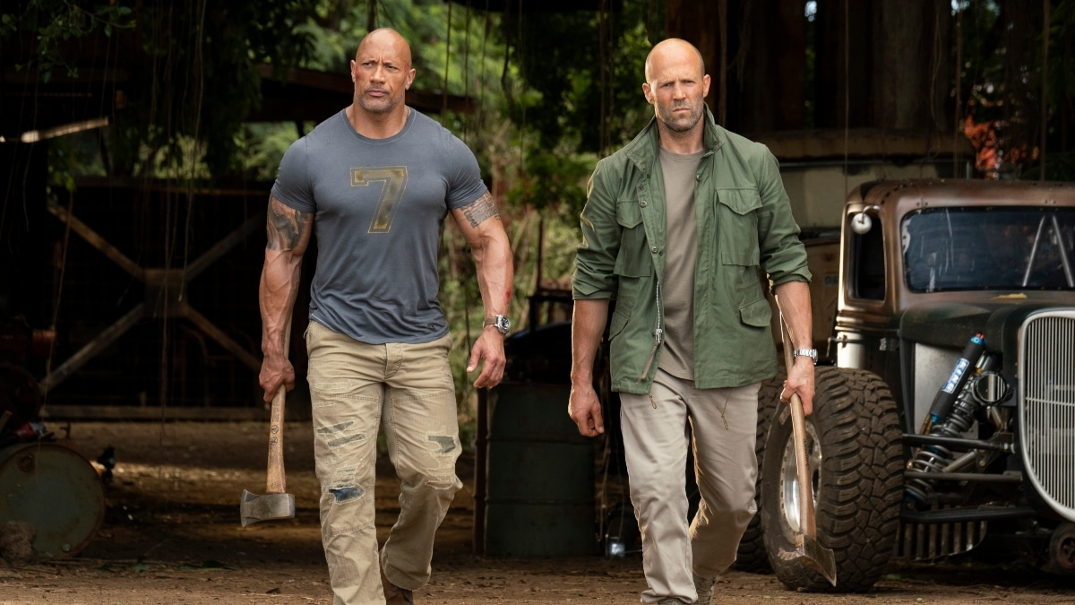 Dwayne Johnson and Jason Statham in Samoa for Hobbs and Shaw
