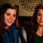 Joy-Anna and Jana Duggar in a Counting On confessional.