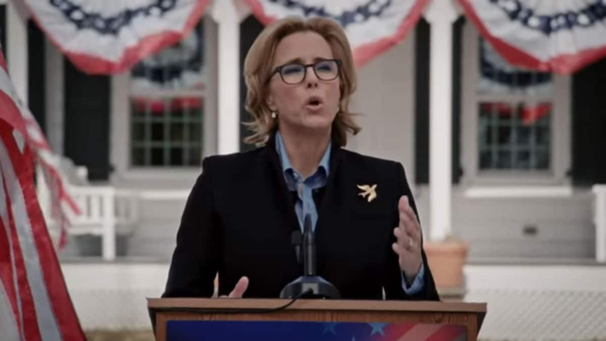 Elizabeth speaking on Madam Secretary.
