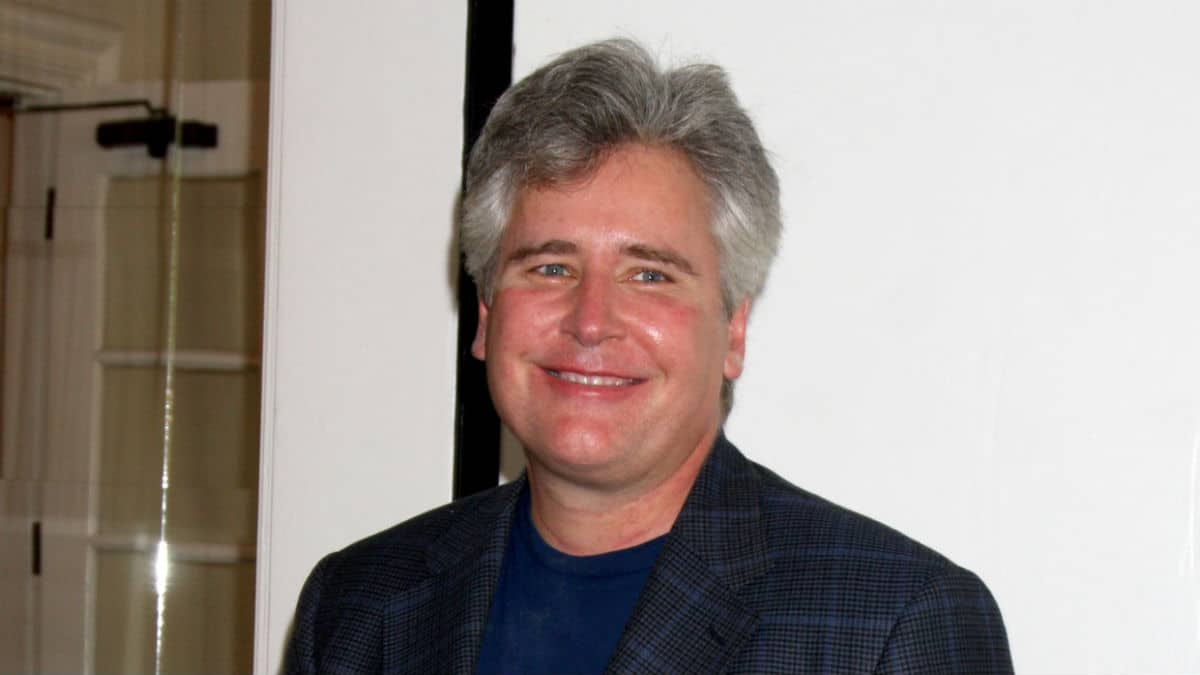 Michael E Knight at an AMC fan club event.