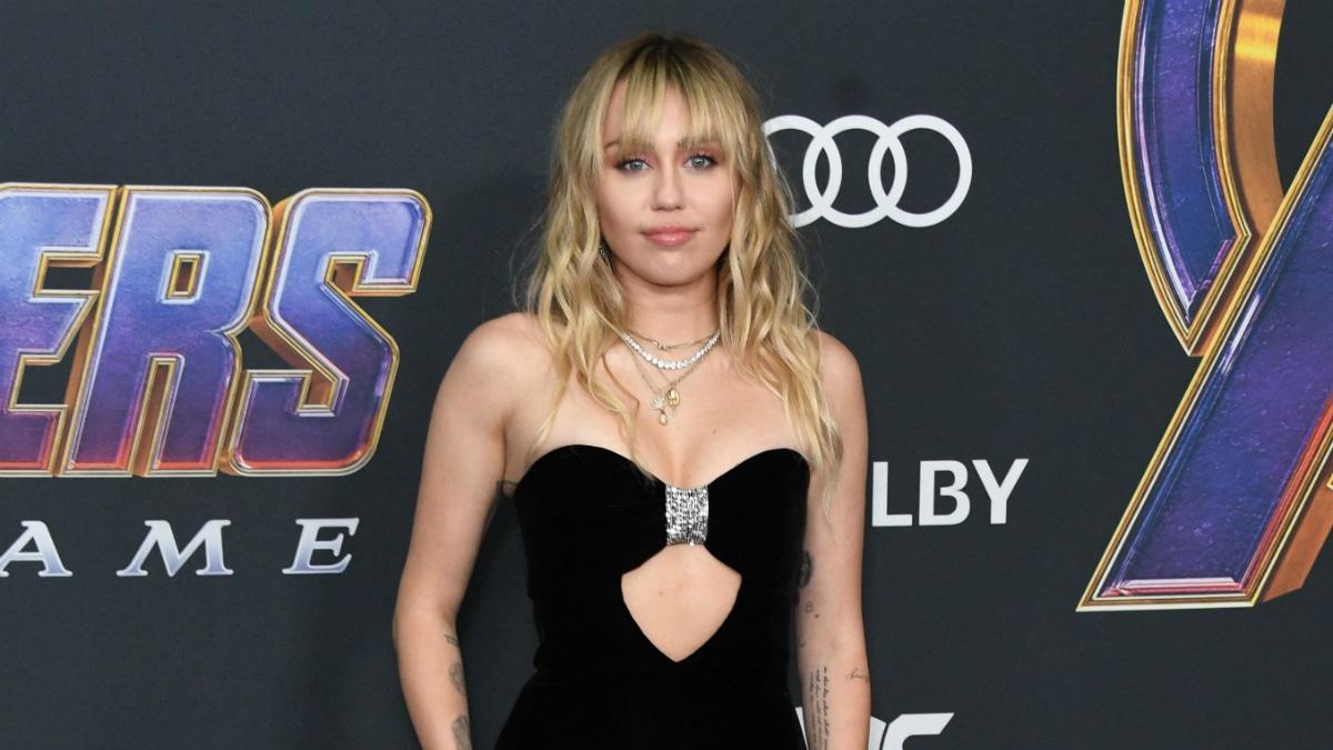 "Miley Cyrus. Marvel Studios' ""Avengers: Endgame"" Los Angeles Premiere held at Los Angeles Convention"
