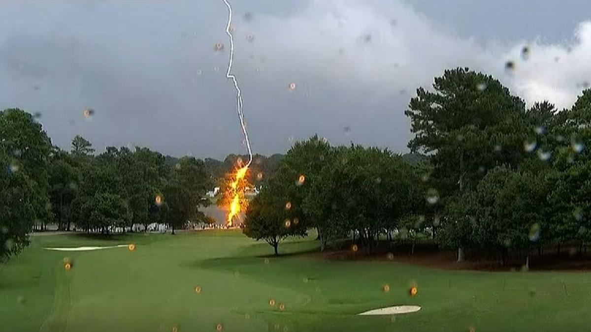 Lightning strikes at PGA Tour Championship