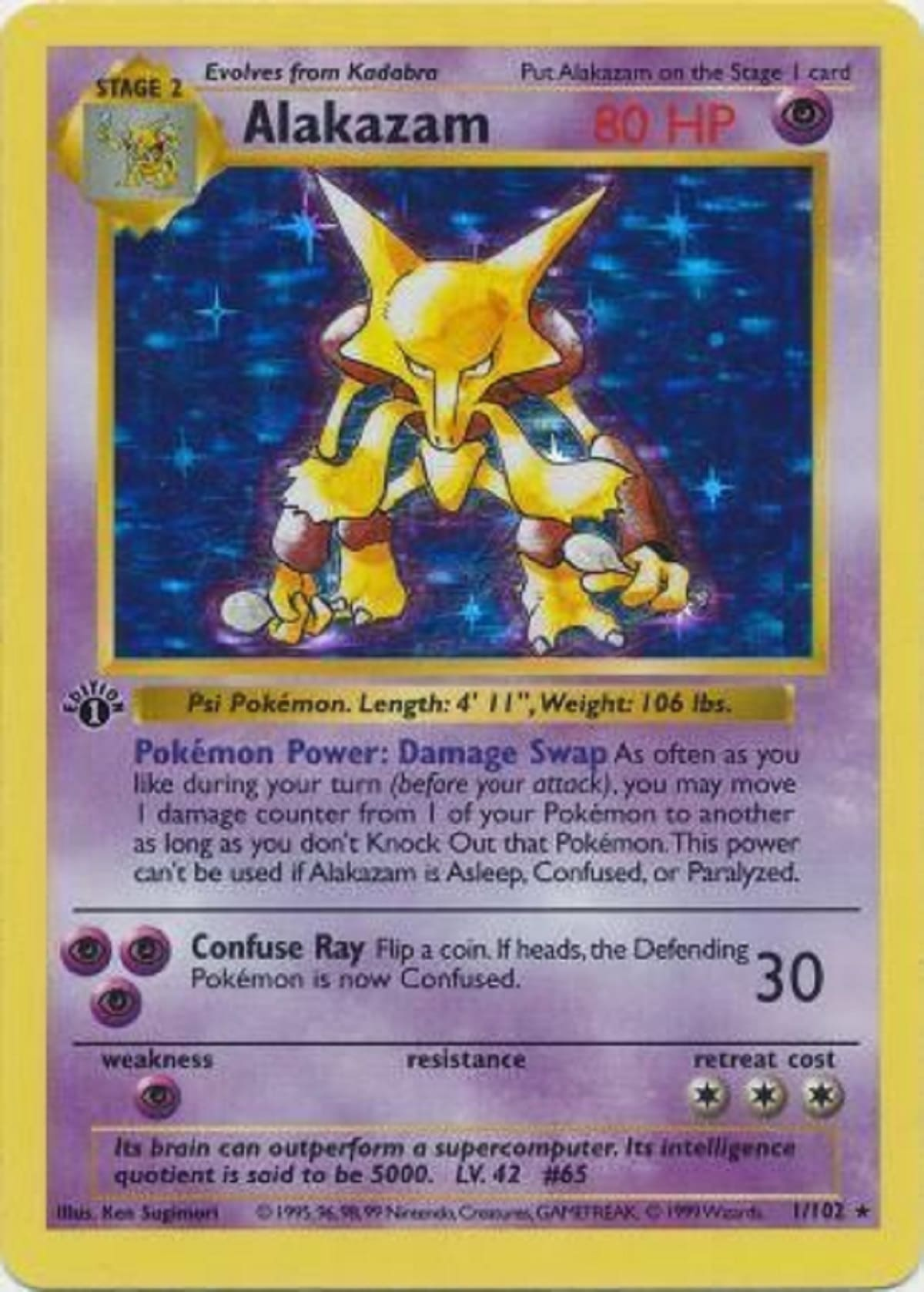 Alakazam card. Photo cred: Troll and Toad