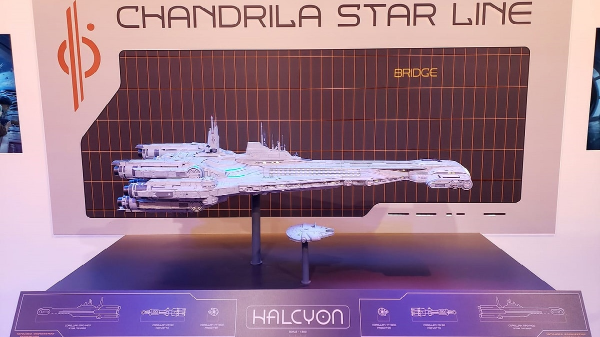 "Model of the Star Wars: Galactic Starcruiser ""Halcyon"" at D23 Expo 2019. Pic credit: Michael Pao."