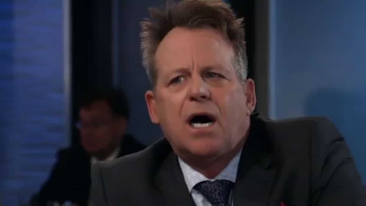 Kin Shriner as Scott Baldwin on General Hospital.